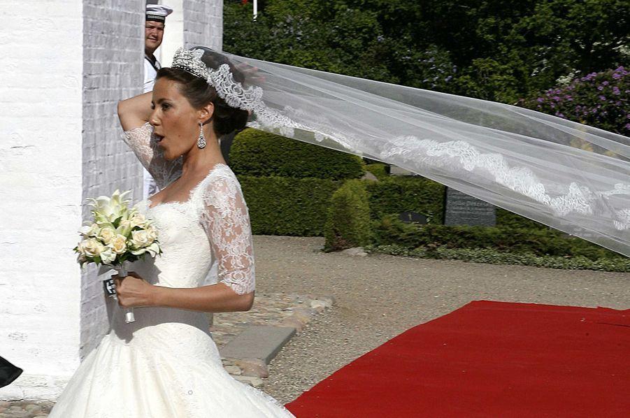 Marie Cavallier le jour de son mariage, le 24 mai 2008
