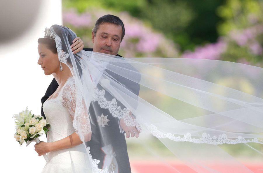Marie Cavallier le 24 mai 2008, jour de son mariage