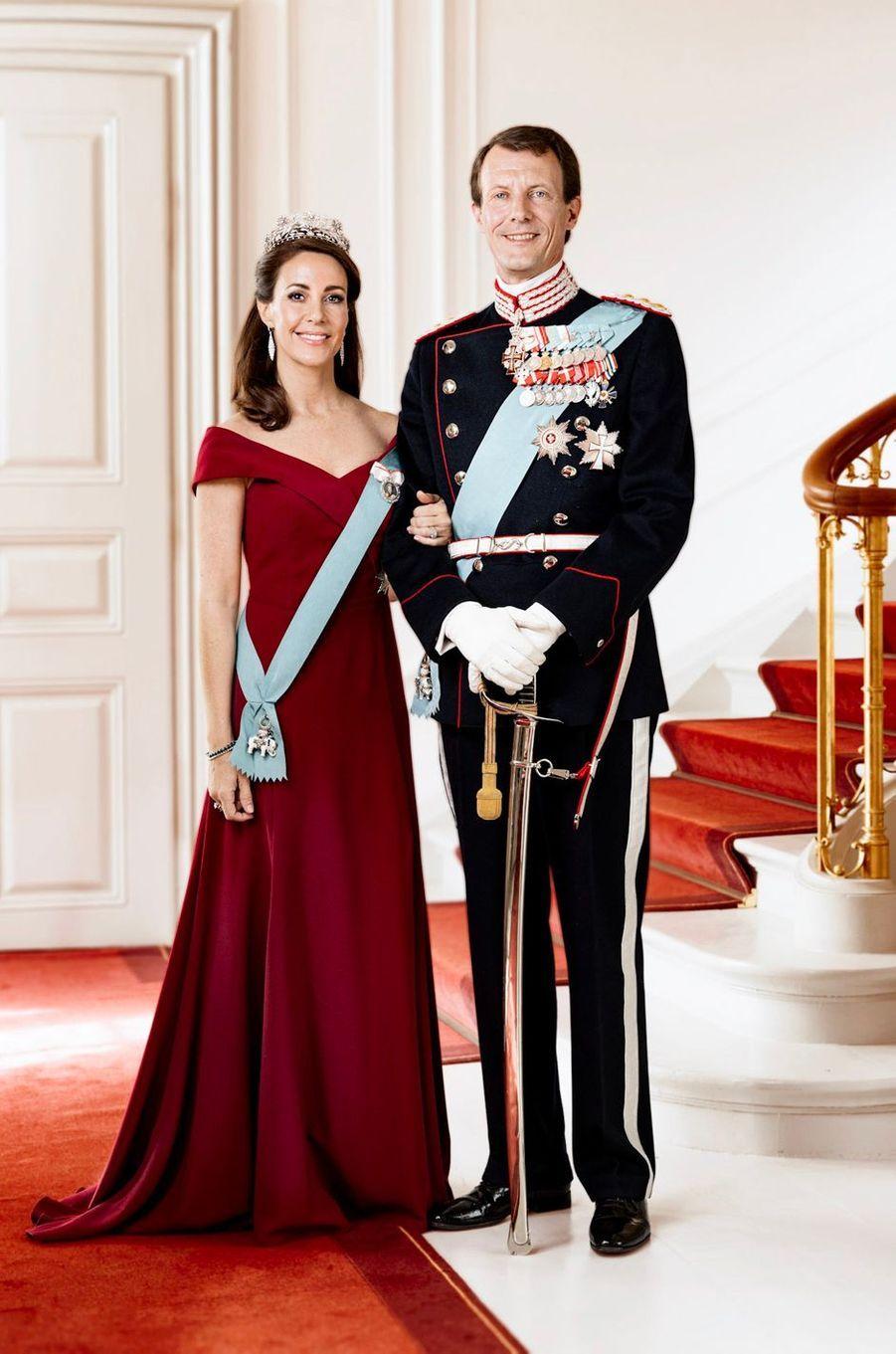 Nouveau portrait officiel du prince Joachim et de la princesse Marie de Danemark, diffusé le 1er juillet 2019