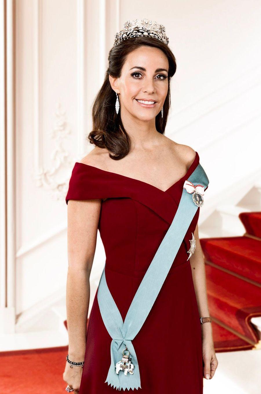 Nouveau portrait officiel de la princesse Marie de Danemark, diffusé le 1er juillet 2019