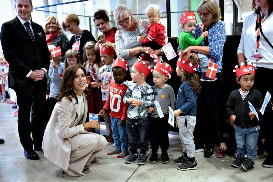 La princesse Mary de Danemark à l'hôtel de ville d'Helsinki, le 13 septembre 2018