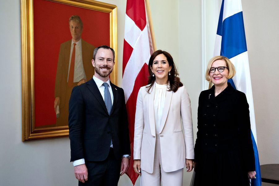 La princesse Mary de Danemark au Parlement finlandais à Helsinki, le 13 septembre 2018