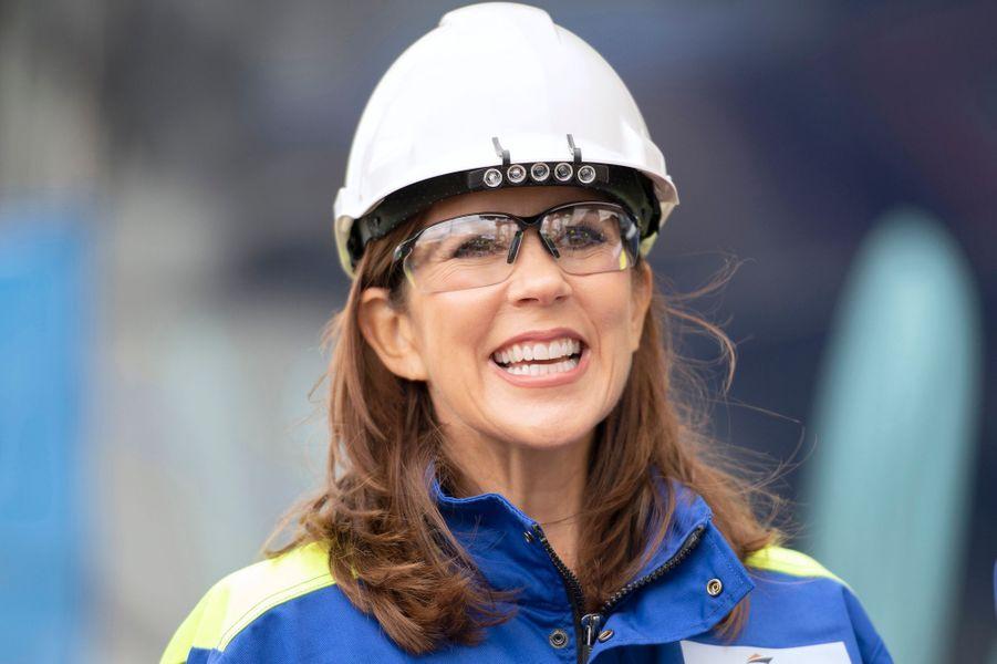 La princesse Mary de Danemark sur le chantier naval de Turku, le 14 septembre 2018