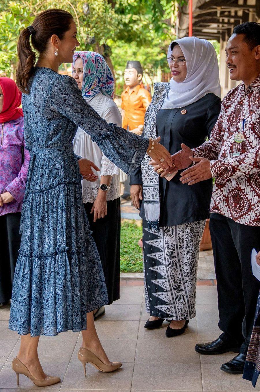 La princesse Mary de Danemark, en Michael Kors, à Jakarta sur l'île de Java en Indonésie, le 3 décembre 2019