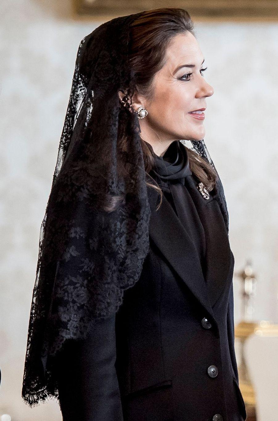 La princesse Mary de Danemark au Vatican, le 8 novembre 2018