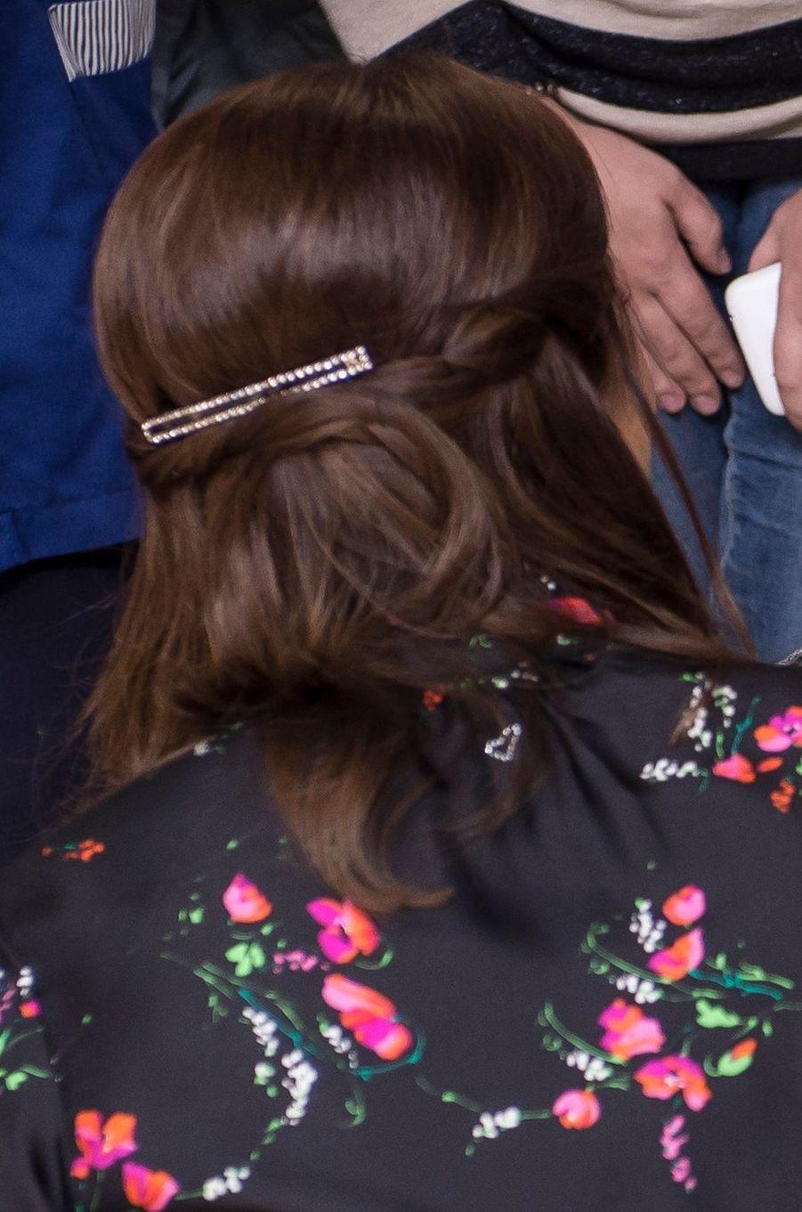 La coiffure de la princesse Mary de Danemark à Rome, le 8 novembre 2018
