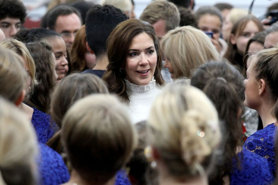 La princesse Mary de Danemark à Paris, le 9 octobre 2019
