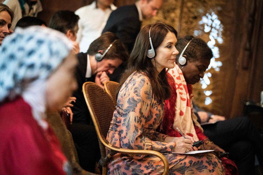 La princesse Mary de Danemark à Jakarta sur l'île de Java en Indonésie, le 2 décembre 2019