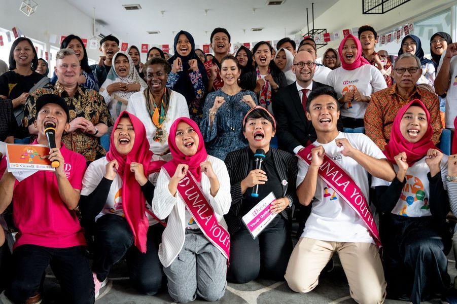 La princesse Mary de Danemark à Yogyakarta, le 3 décembre 2019