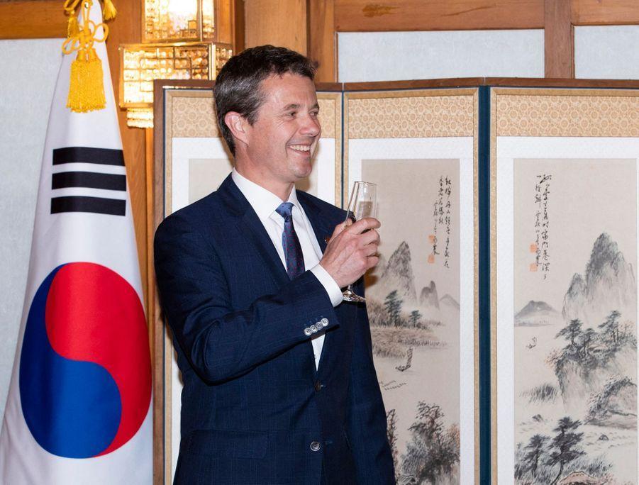 Le prince Frederik de Danemark en Corée du Sud, le 20 mai 2019