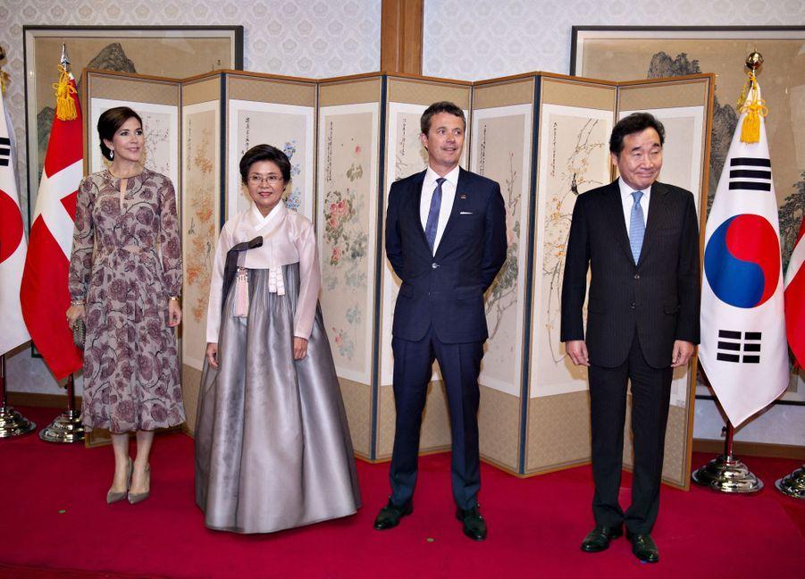 La princesse Mary et le prince Frederik de Danemark en Corée du Sud, le 20 mai 2019