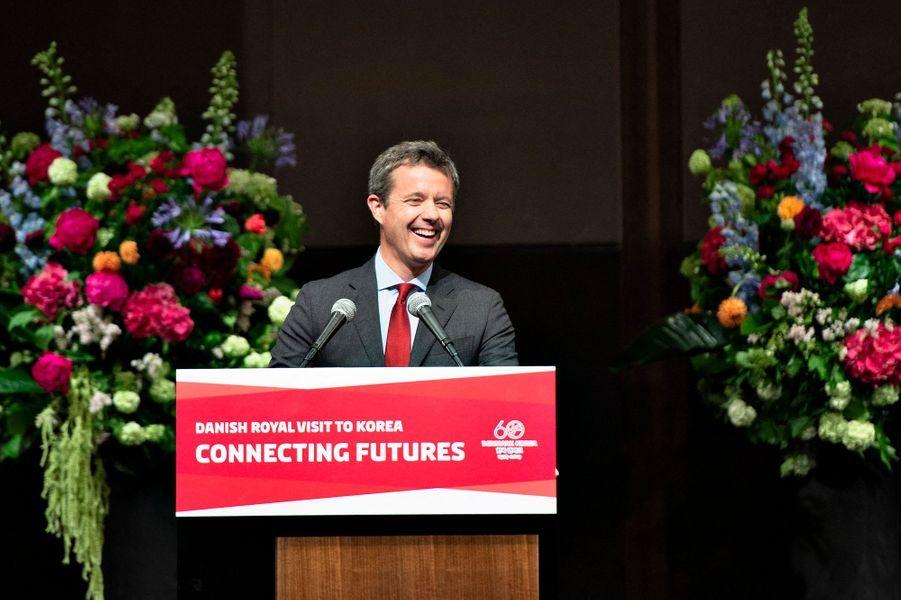 Le prince Frederik de Danemark en Corée du Sud, le 21 mai 2019