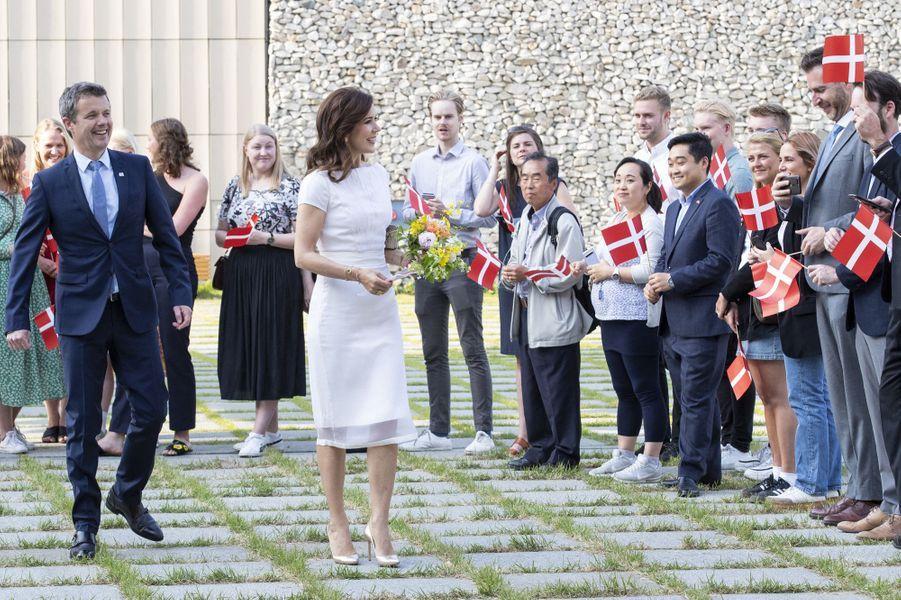 La princesse Mary et le prince Frederik de Danemark en Corée du Sud, le 22 mai 2019