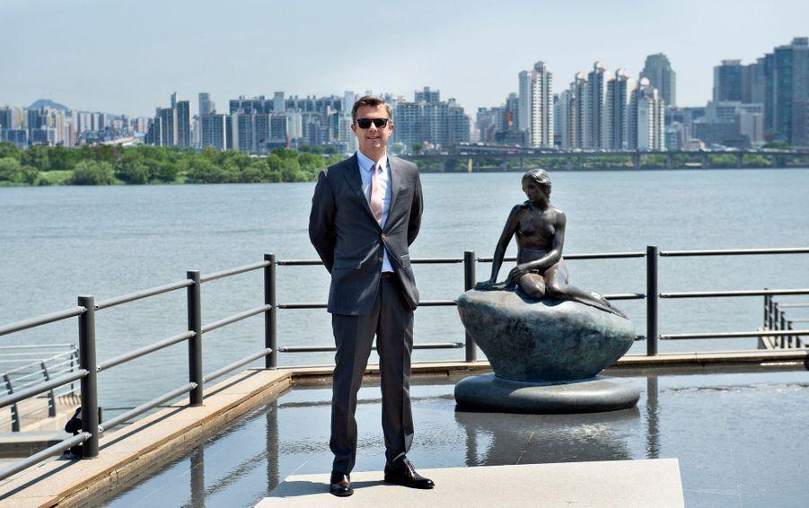 Le prince Frederik de Danemark en Corée du Sud, le 22 mai 2019