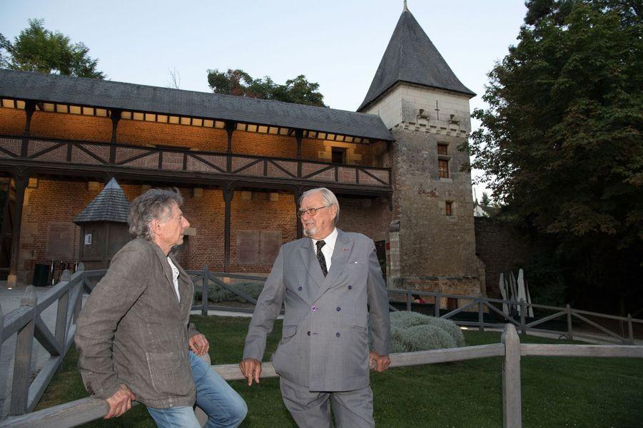 Le prince Henrik de Danemark et Roman Polanski au château du Clos Lucé, le 27 août 2016