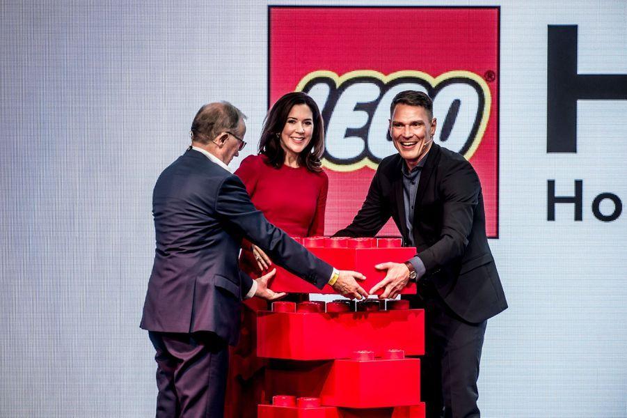 La princesse Mary de Danemark inaugure la Lego House à Billund, le 28 septembre 2017