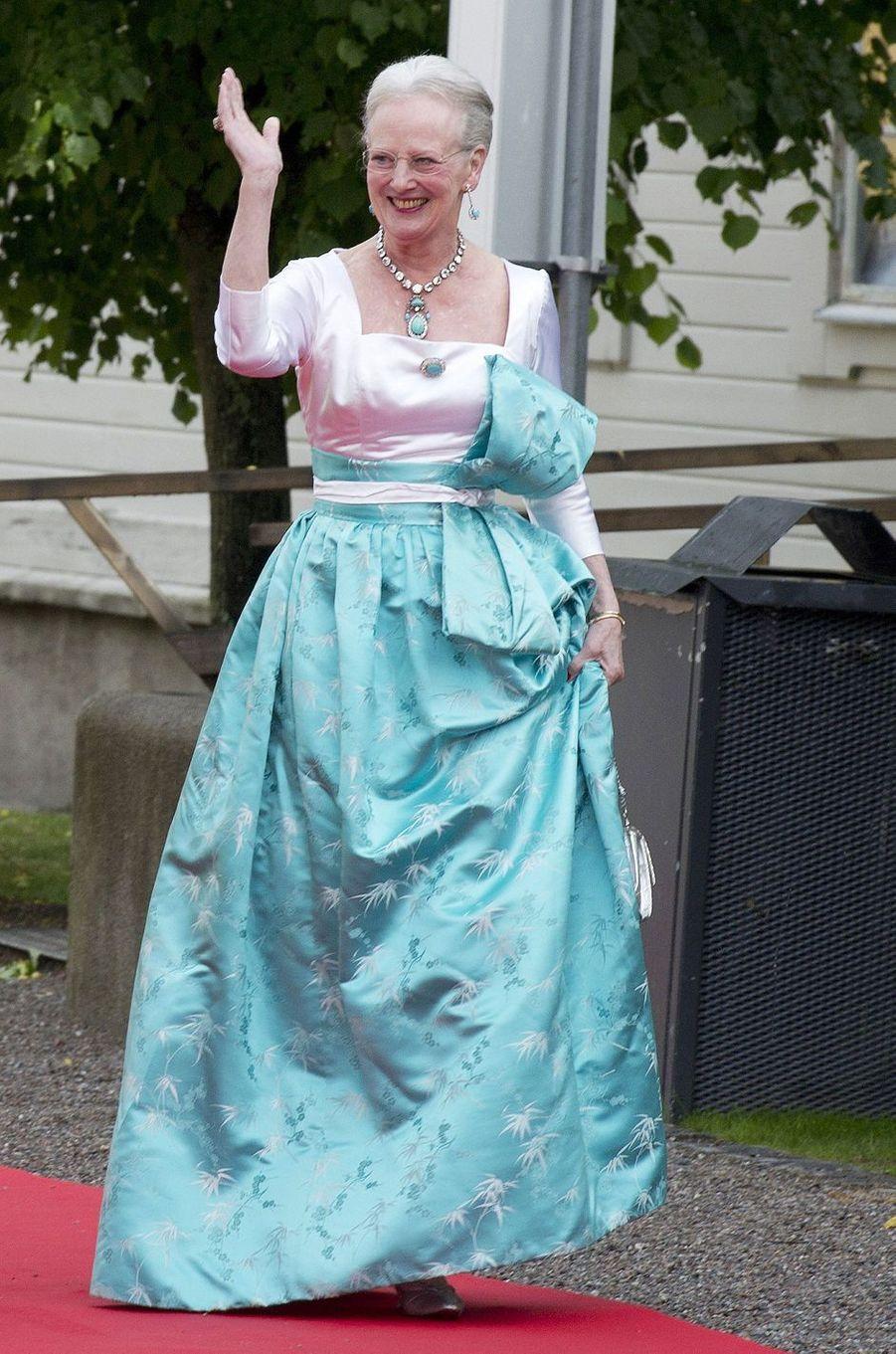 La reine Margrethe II de Danemark au mariage de la princesse Victoria de Suède, le 18 juin 2010