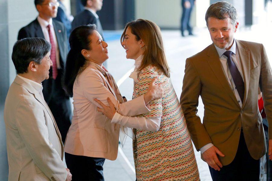 La princesse Mary et le prince Frederik de Danemark accueillis par la princesse Masako et le prince Naruhito du Japon à Tokyo, le 8 octobre 2017