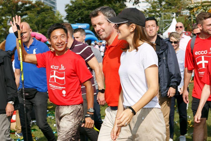 La princesse Mary et le prince Frederik de Danemark à Tokyo, le 8 octobre 2017