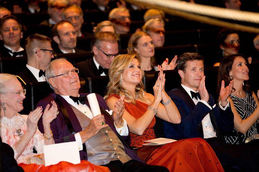 La famille royale de Danemark avec la reine Maxima des Pays-Bas à Copenhague, le 18 mars 2015