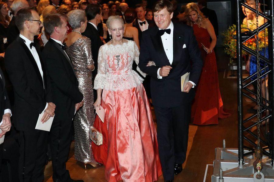 La reine Margrethe II de Danemark et le roi Willem-Alexander des Pays-Bas à Copenhague, le 18 mars 2015