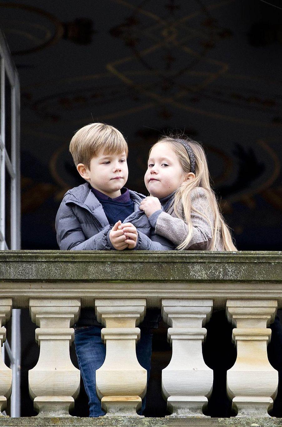 Le prince Vincent et la princesse Josephine de Danemark à Klampenborg, le 5 novembre 2017