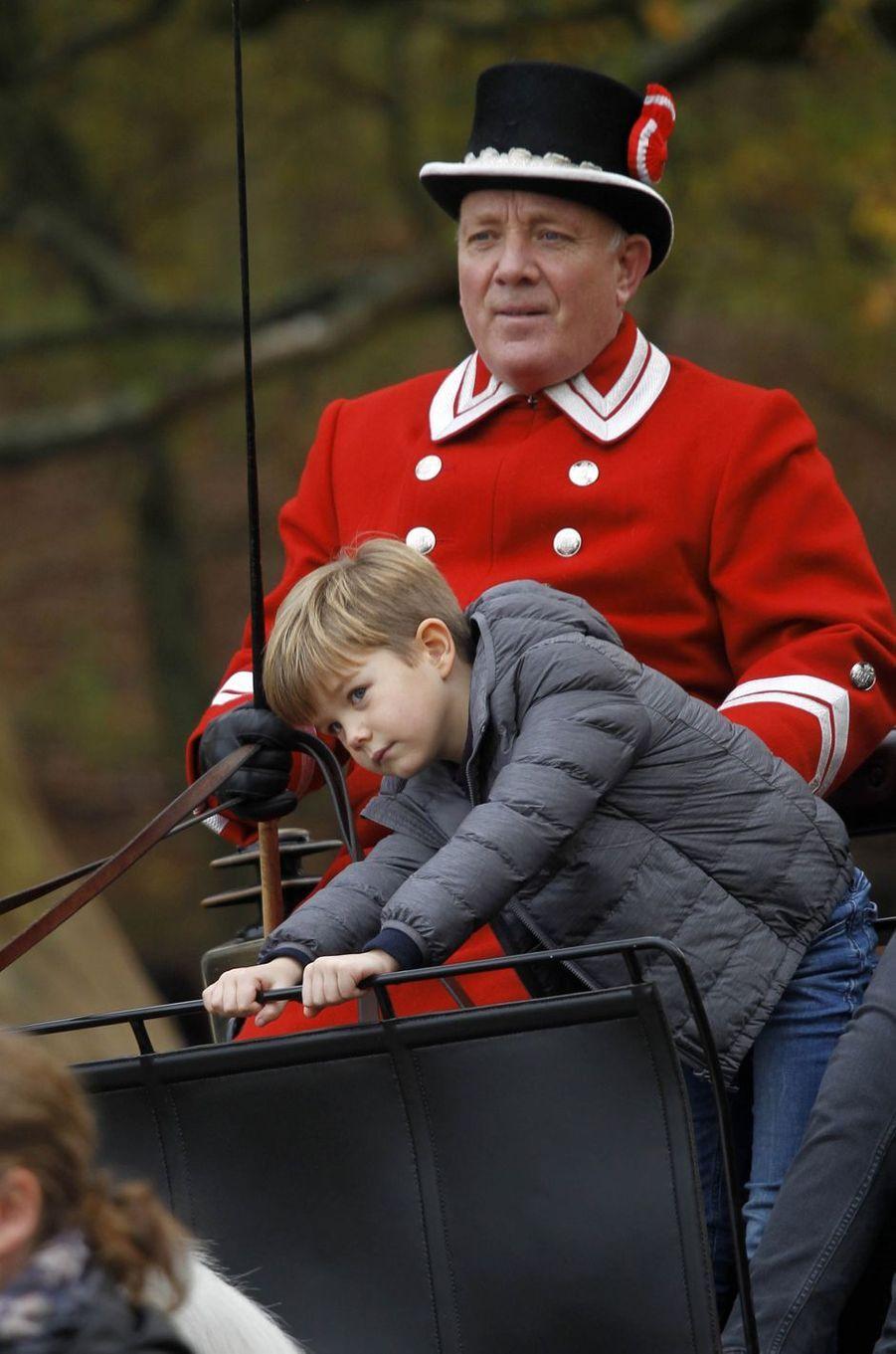 Le princes Vincent de Danemark à Klampenborg, le 5 novembre 2017