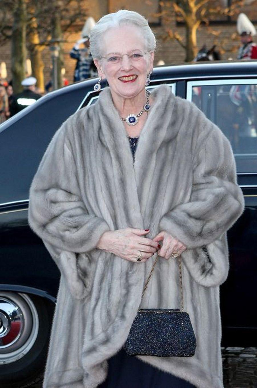 La reine Margrethe II de Danemark à Aarhus, le 8 avril 2015