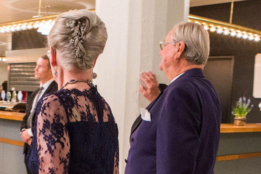 La reine Margrethe II de Danemark et le prince consort Henrik à Aarhus, le 8 avril 2015