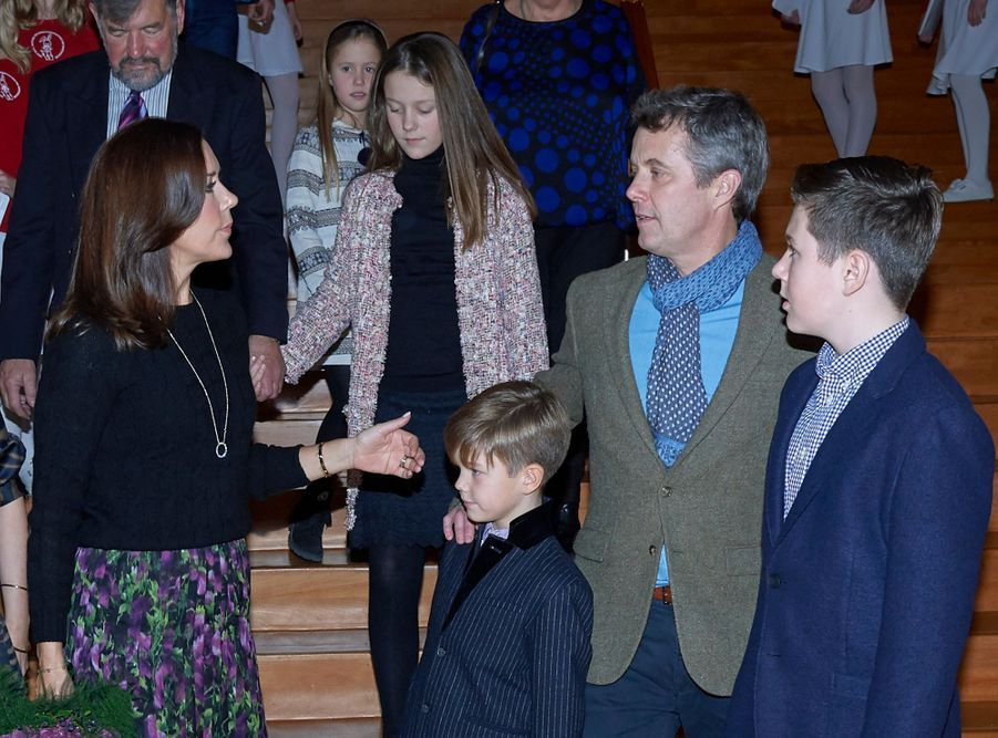 La princesse Mary de Danemark et sa famille à Copenhague, le 8 décembre 2018