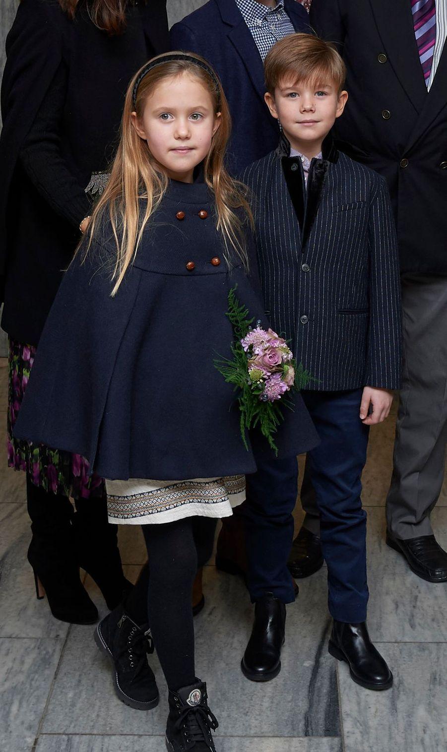 La princesse Joséphine et le prince Vincent de Danemark à Copenhague, le 8 décembre 2018