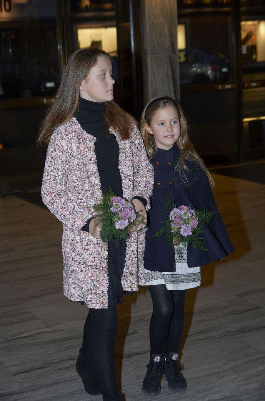 Les princesses Isabella et Joséphine de Danemark à Copenhague, le 8 décembre 2018