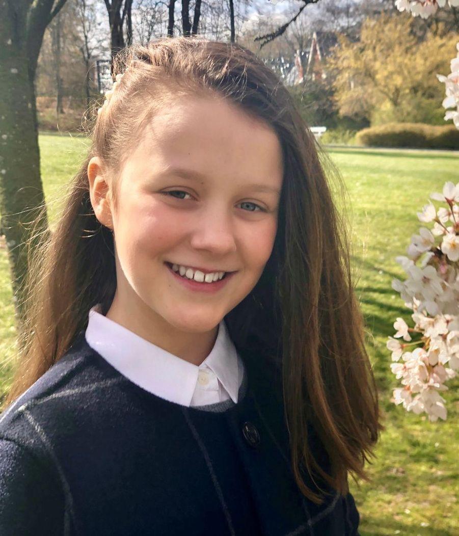 La princesse Isabella de Danemark. Photo diffusée le 21 avril 2019 pour ses 12 ans