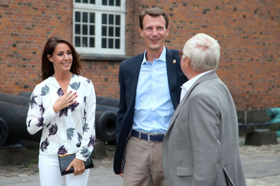 La princesse Marie et le prince Joachim de Danemark à Copenhague, le 22 août 2016