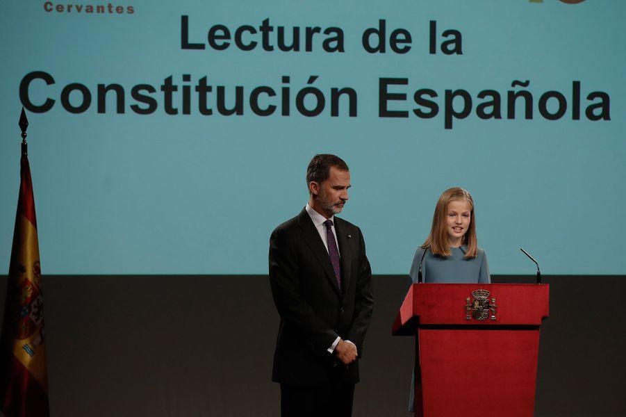 Première allocution de la princesse Leonor d'Espagne, le 31 octobre 2018