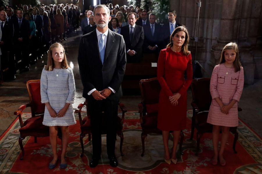 Premier engagement de la princesse Leonor d'Espagne dans les Asturies, le 8 septembre 2018