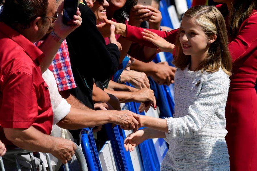 La princesse Leonor d'Espagne dans les Asturies, le 8 septembre 2018