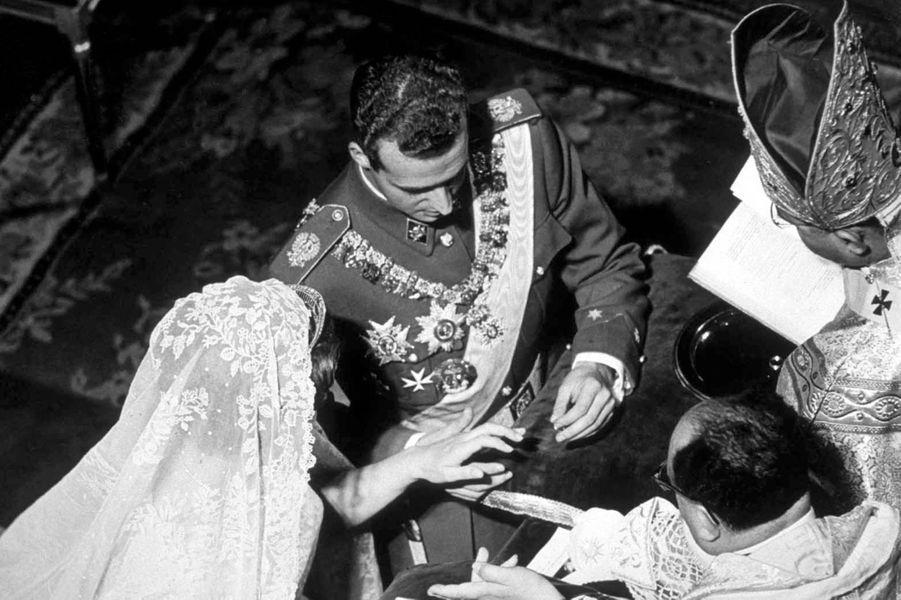 Le mariage de la princesse Sophie de Grèce et de Don Juan Carlos d'Espagne à Athènes, le 14 mai 1962