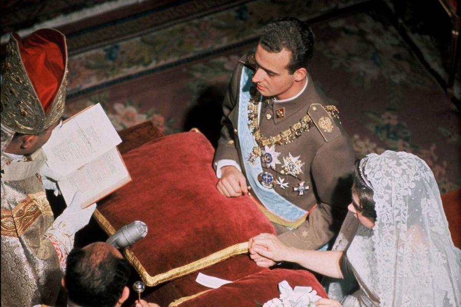 Mariage de la princesse Sophie de Grèce et de Don Juan Carlos d'Espagne à Athènes, le 14 mai 1962