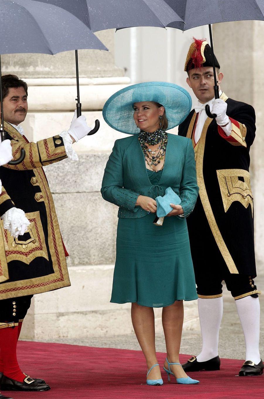 La grande-duchesse Maria Teresa de Luxembourg à Madrid, le 22 mai 2004
