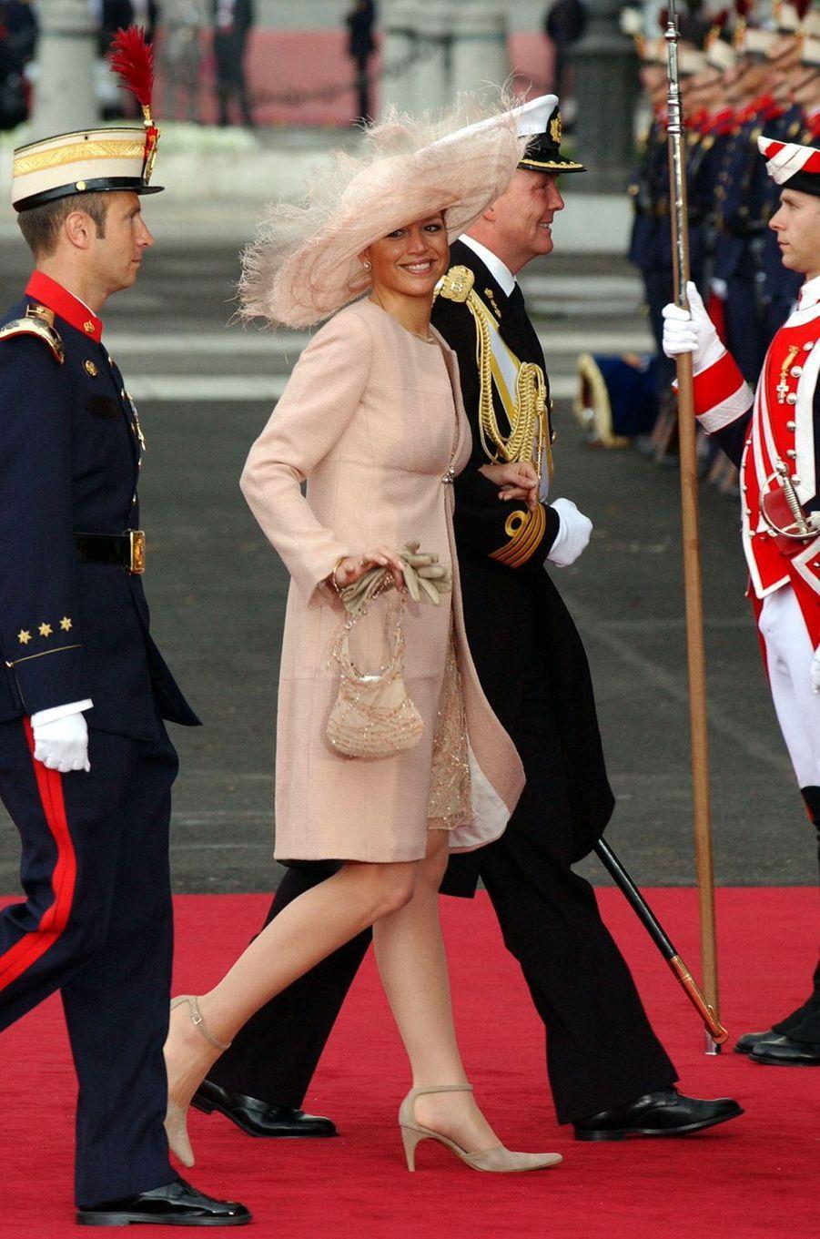La princesse Maxima et le prince héritier Willem-Alexander des Pays-Bas à Madrid, le 22 mai 2004