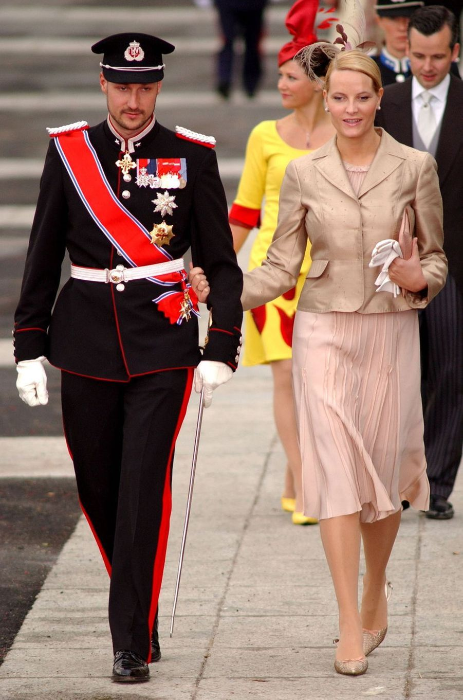 La princesse Mette-Marit et le prince héritier Haakon de Norvège à Madrid, le 22 mai 2004