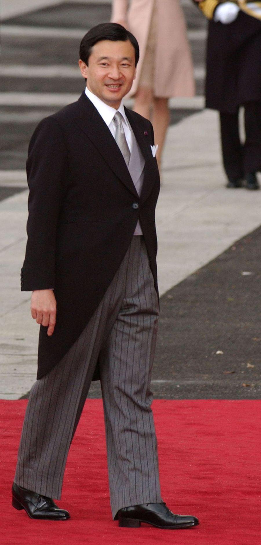 Le prince héritier Naruhito du Japon à Madrid, le 22 mai 2004