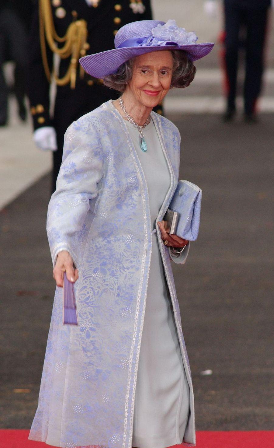 L'ex-reine des Belges Fabiola à Madrid, le 22 mai 2004