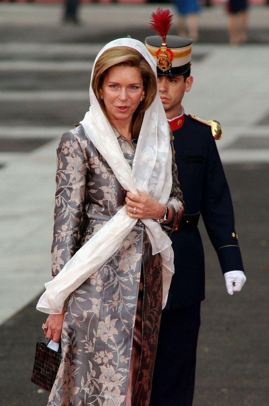 L'ex-reine Noor de Jordanie à Madrid, le 22 mai 2004