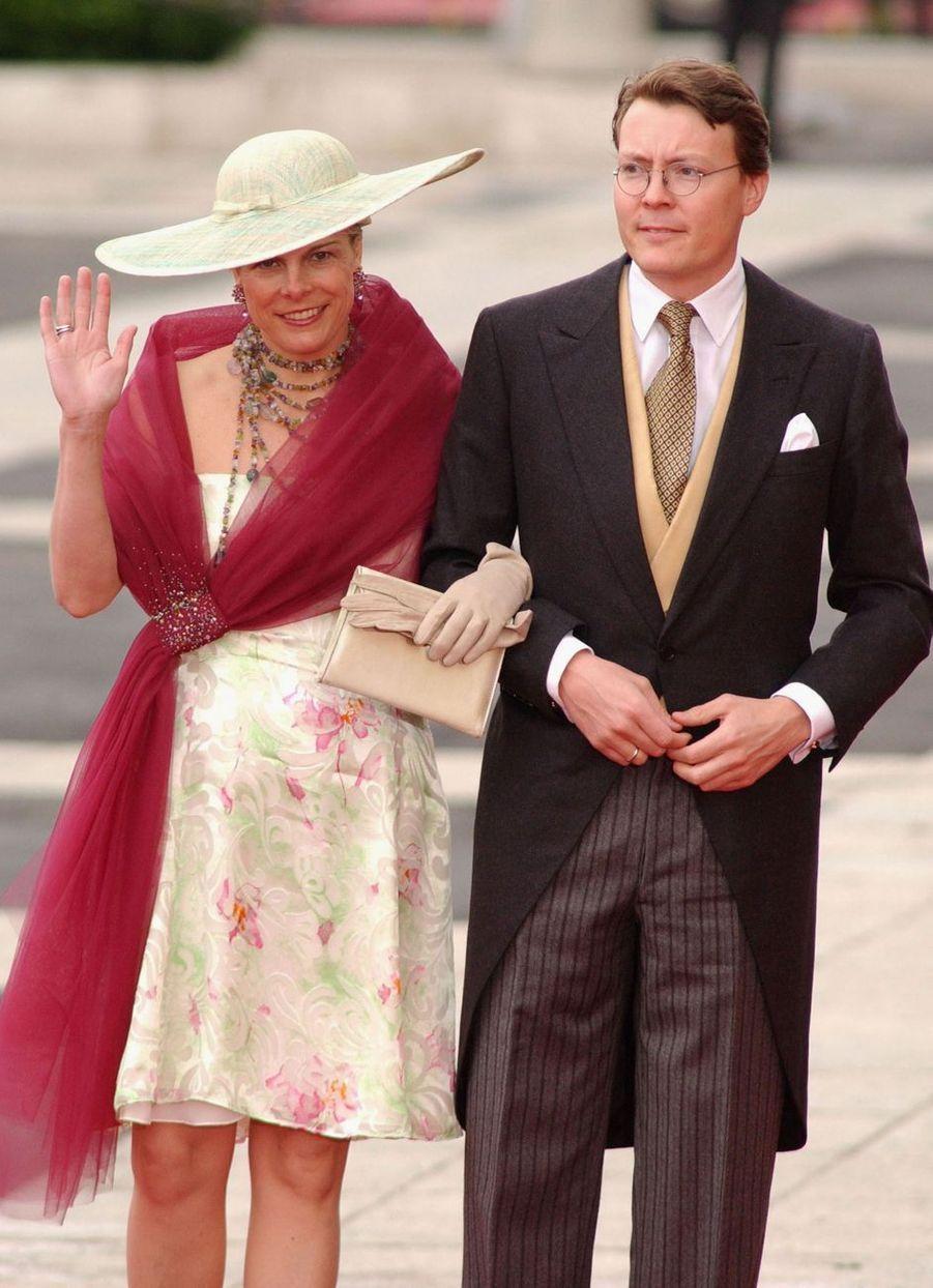 La princesse Laurentien et le prince Constantijn des Pays-Bas à Madrid, le 22 mai 2004