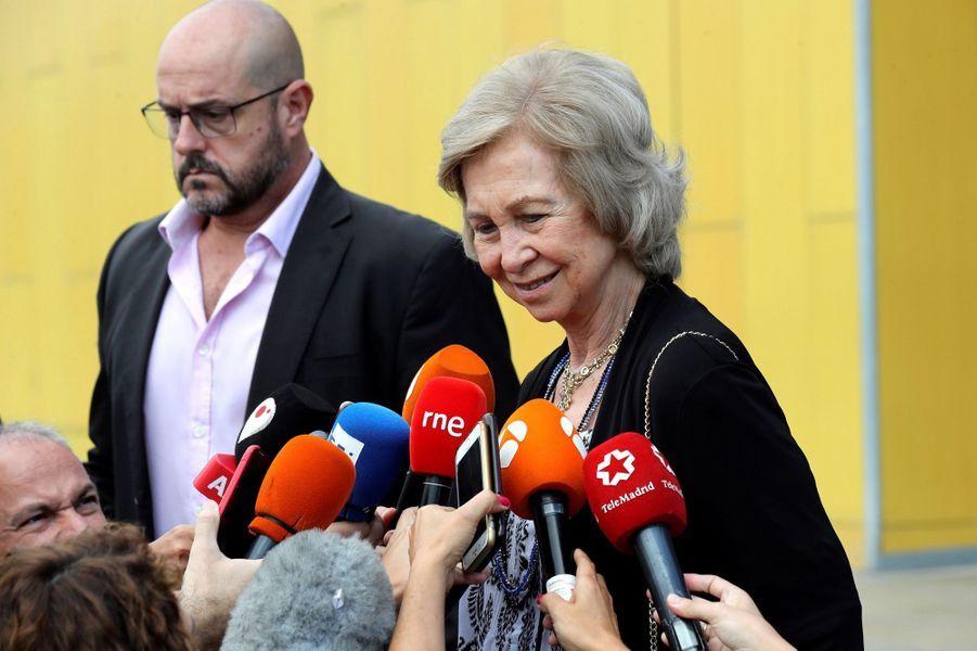 L'ex-reine Sofia d'Espagne à Madrid, le 27 août 2019