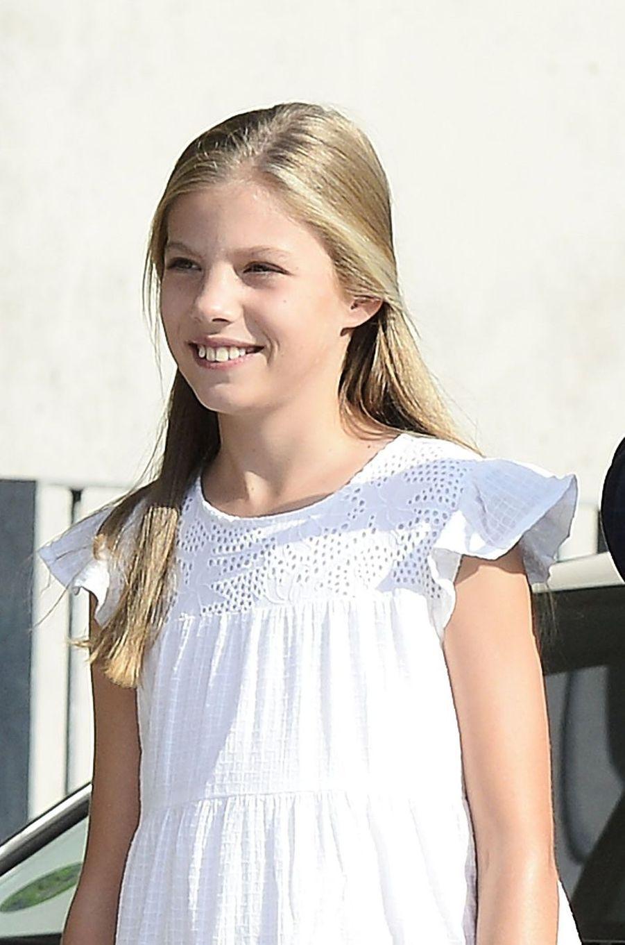 La princesse Sofia d'Espagne à Madrid, le 27 août 2019