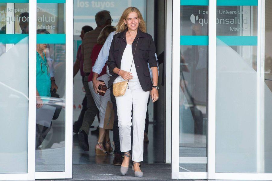 La princesse Cristina d'Espagne à Madrid, le 27 août 2019
