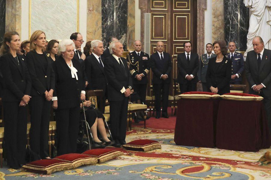 La famille royale d'Espagne à Madrid, le 11 mai 2017